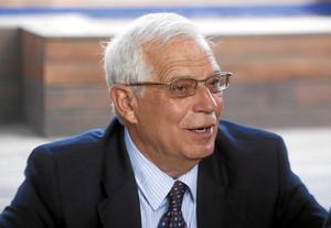 Josep Borrell, en un moment de l'entrevista.