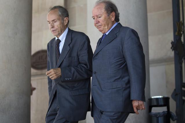 Josep Lluís Núñez i el seu advocat, el juliol del 2011.