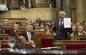 Sesión de control al Govern en el Parlament, el pasado 19 de mayo.