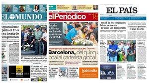 Prensa de hoy: Las portadas de los periódicos del domingo 18 de agosto del 2019