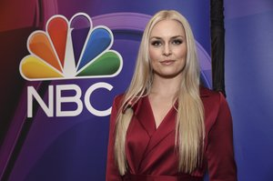 Lindsey Vonn attends the NBC 2019/2020 Upfront at The Four Seasons New York on Monday, May 13, 2019. (Photo by Evan Agostini/Invision/AP)