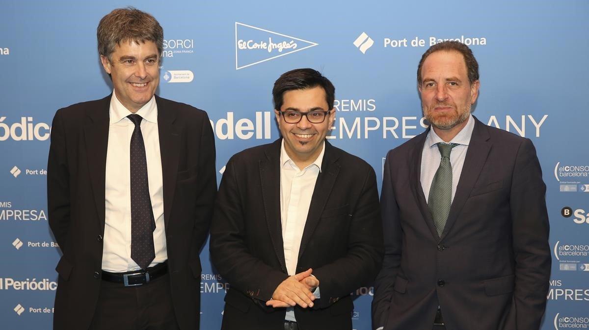 Lluis Gómez,Gerardo Pisarello y Enric Hernández.