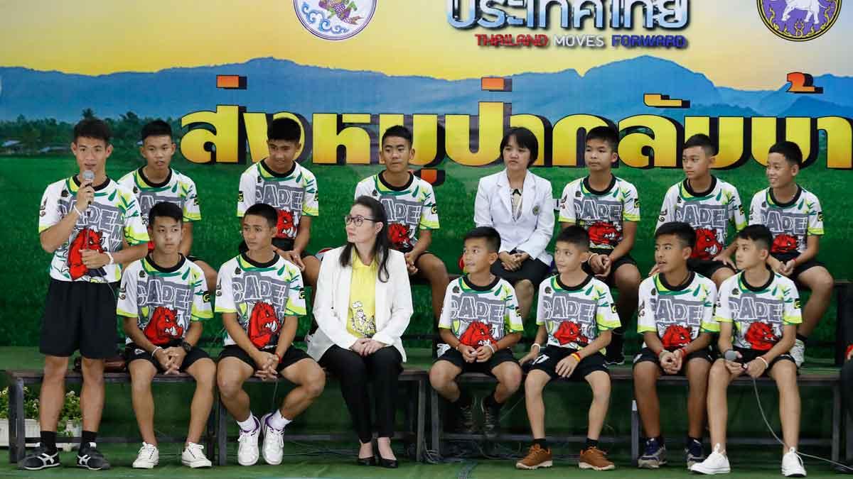 Los niños tailandeses de la cueva protagonizarán una película y un museo.
