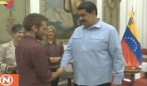 Maduro recibió a los activistas que se atrincheraron en la embajada de Venezuela en la capital estadounidense.