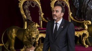 El juez Manuel Marchena, en el Palacio Real el pasado 12 de octubre.