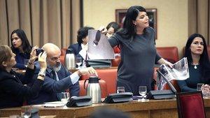 Bulla de Vox en el Congreso por los disturbios en Catalunya