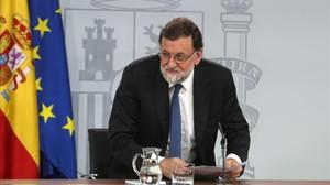 Mariano Rajoy, el pasado viernes en la Moncloa.
