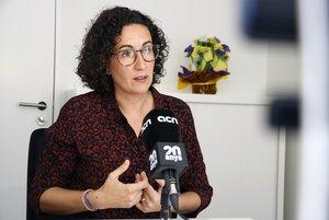 Marta Rovira, en un momento de la entrevista en Ginebra.