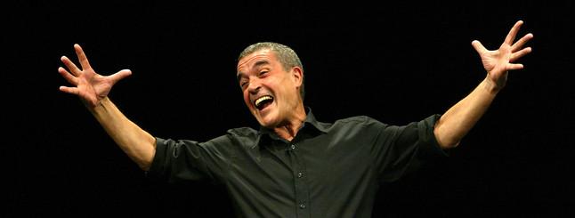 Pepe Rubianes, durante una obra.