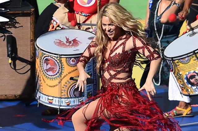 Un momento de la actuación de Shakira, en el estadio de Maracaná, el pasado domingo.