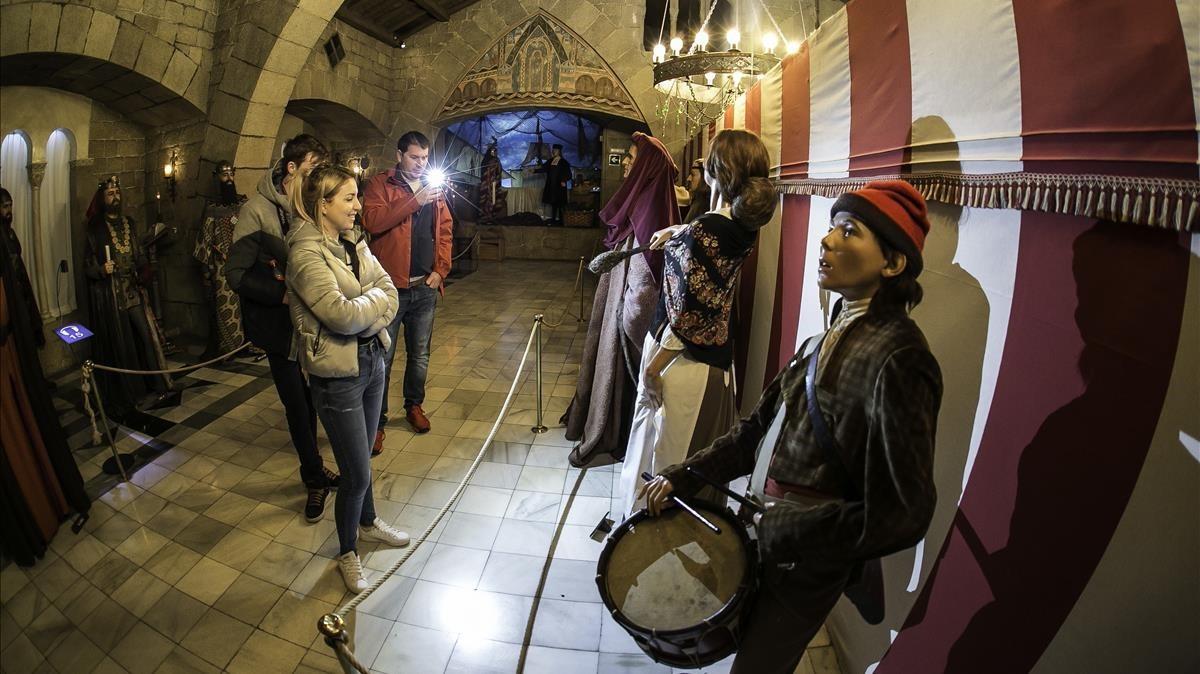 Una de las salas del Museo de Cera de Barcelona.