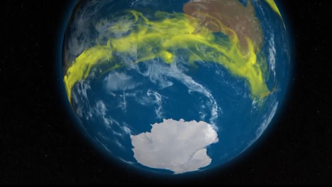 Nuevas emisiones de un gas prohibido CFC que daña la capa de ozono.
