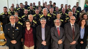 Nuevos agentes de la policia de barrio de Les Corts, Gràcia y Horta-Guinardó.