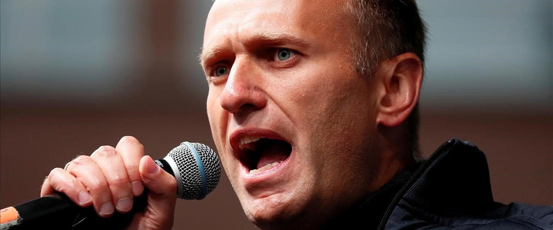 El opositor ruso Alekséi Navalni, en una manifestación en Moscú en septiembre del año pasado.