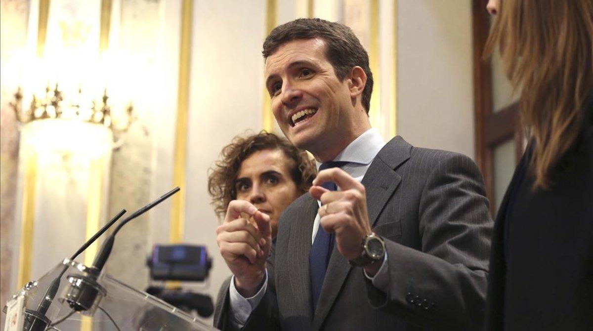 Pablo Casado en la segunda jornada de debate sobre los Presupuestos Generales del Estado.