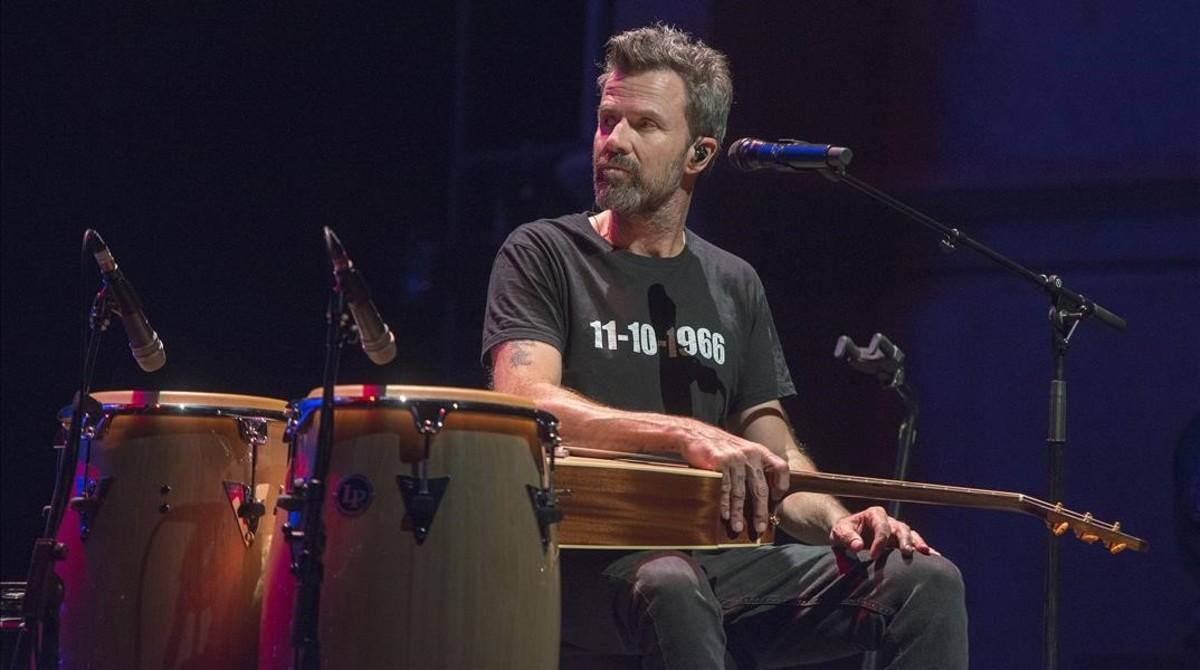 Pau Donés, en el concierto de Jarabe de Palo en el Liceu.