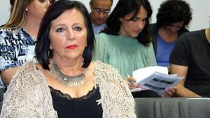 Pilar Abel, en el juzgado