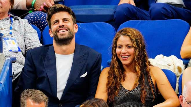 Pique y Shakira pasea la nueva copa Davis por Nueva York.