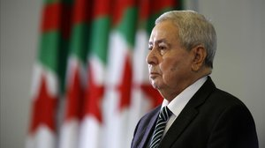 El presidente interino de Argelia, Abdelkader Bensala.