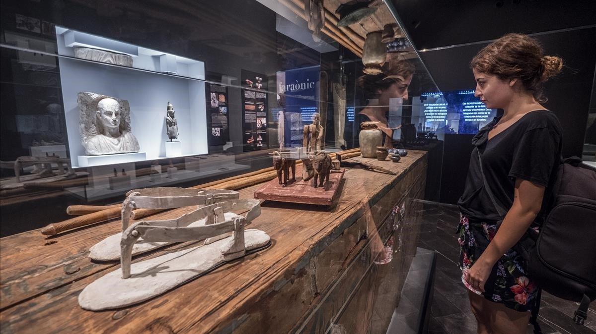 ElMuseu Egipci de Barcelona inauguró la exposición 'Pasion por el Egipto faraónico', el 11 de julio del 2018.