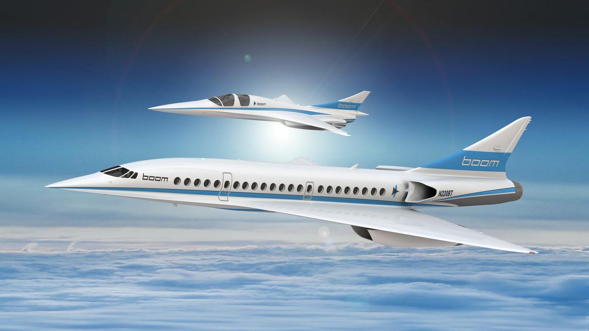Recreación del Boom Supersonic.