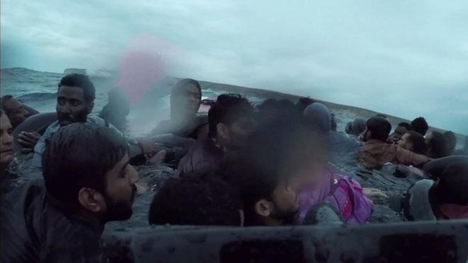 Rescate de un naufragio en Lampedusa