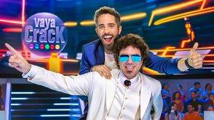 Roberto Leal y Pablo Ibáñez en el plató de 'Vaya crack'.
