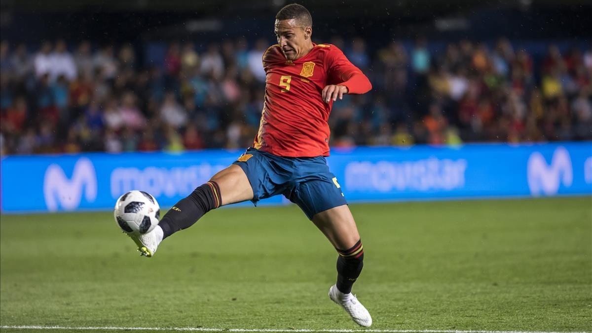 Rodrigo Moreno, durante el amistoso contra Suiza.