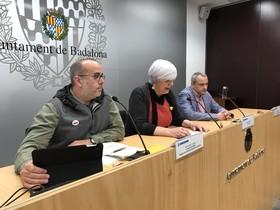 Rueda de prensa de Dolors Sabater, alcaldesa de Badalona.