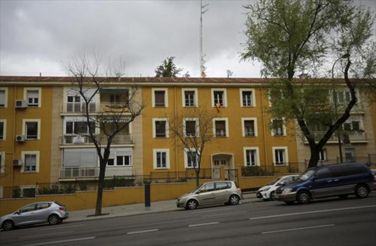 Fachada del edificio donde tiene su sede la Fundación Francisco Franco en Madrid.