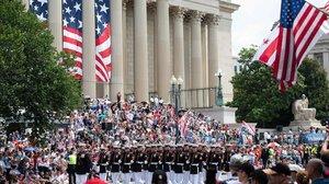 Soldados en la parada militar de Washington.