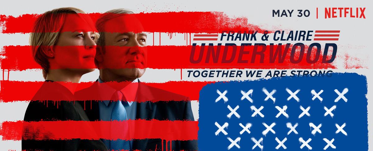 Imagen promocional de la serie de Netflix House of cards, uno de los iconos de la plataforma de televisión estadounidense.