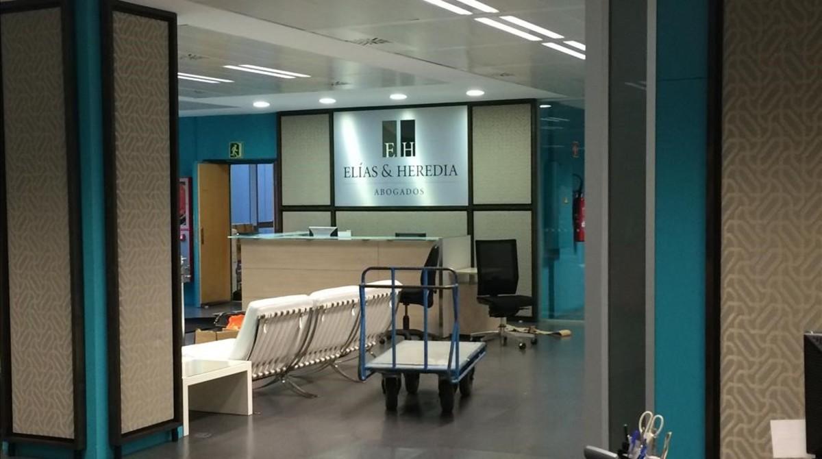 Escenarios de 'SQE': el Bufete Elías-Heredia quedó instalado en el Col·legi Oficial d'Infermeres i Infermers de Barcelona.