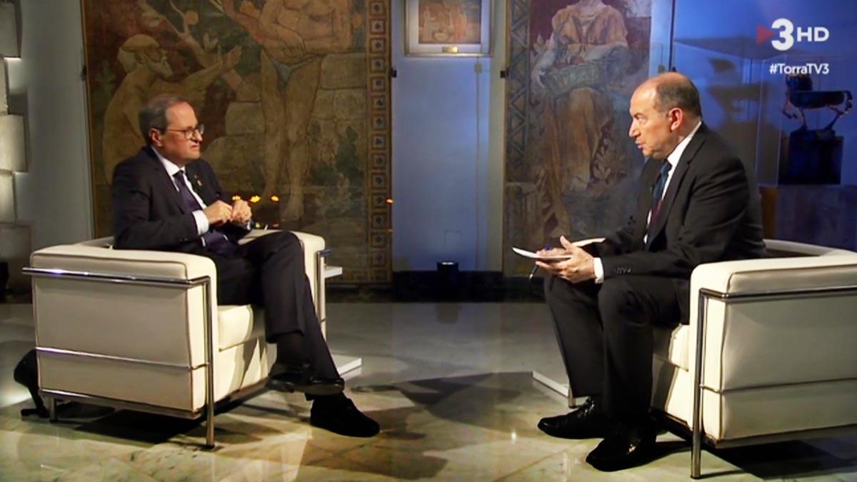 Sanchis entrevistó a Torra (TV-3).