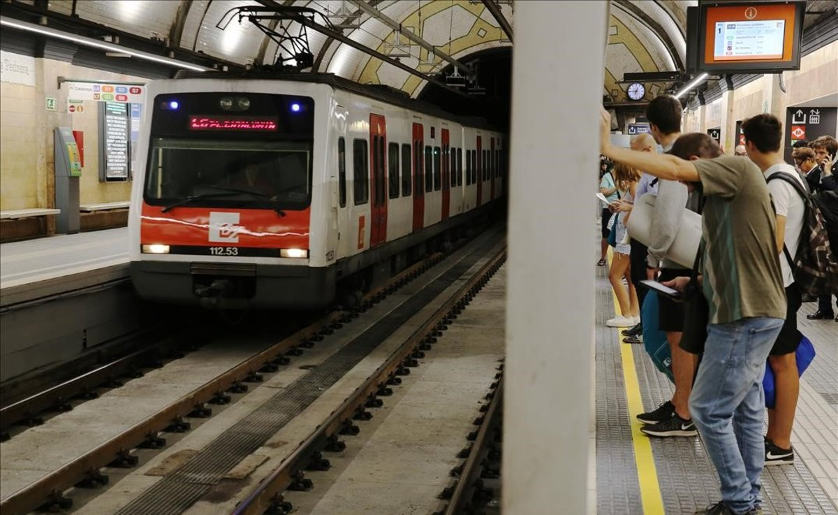 Una estación de Ferrocarrils de la Generalitat en Barcelona.