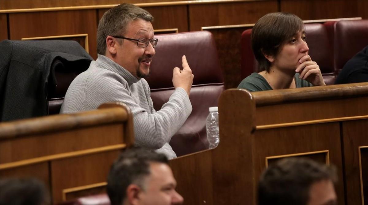 Xavier Domènech en el Congreso.