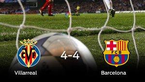 El Villarreal y el Barcelona empatan (4-4)