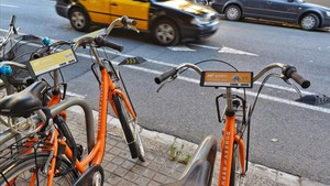 Bicicletas de alquiler en Barcelona.