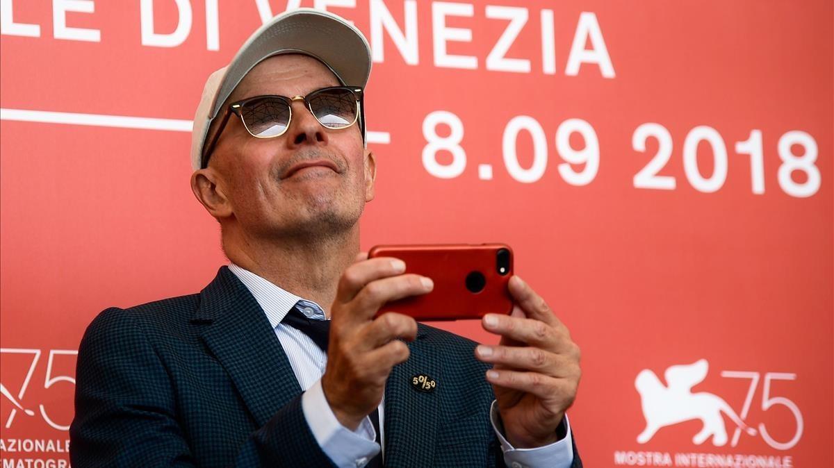 Jacques Audiard, en el Festival de Venecia presentando su última película, The Sisters Brothers.