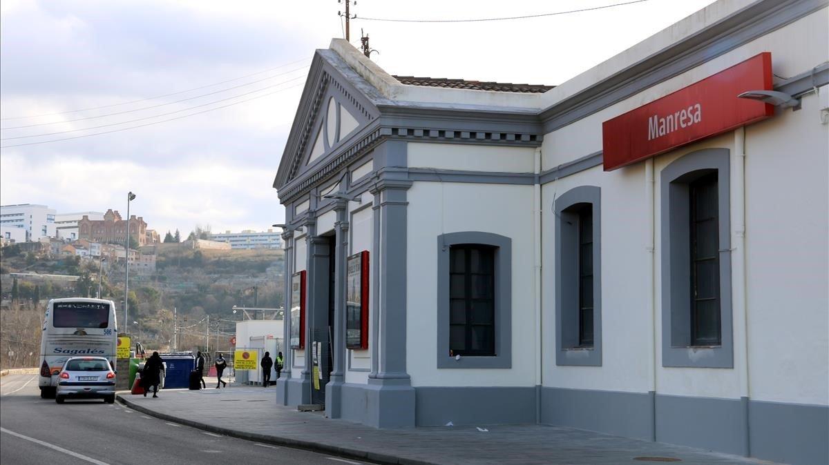 Estación de Manresa.