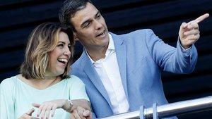 Pedro Sánchez i Susana Díaz busquen una treva a Andalusia