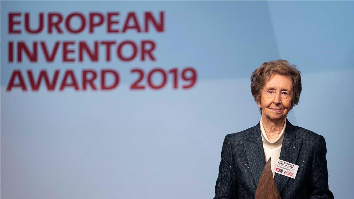 La bioquímica española Margarita Salas durante la entrega del Premio Inventor Europeo 2019