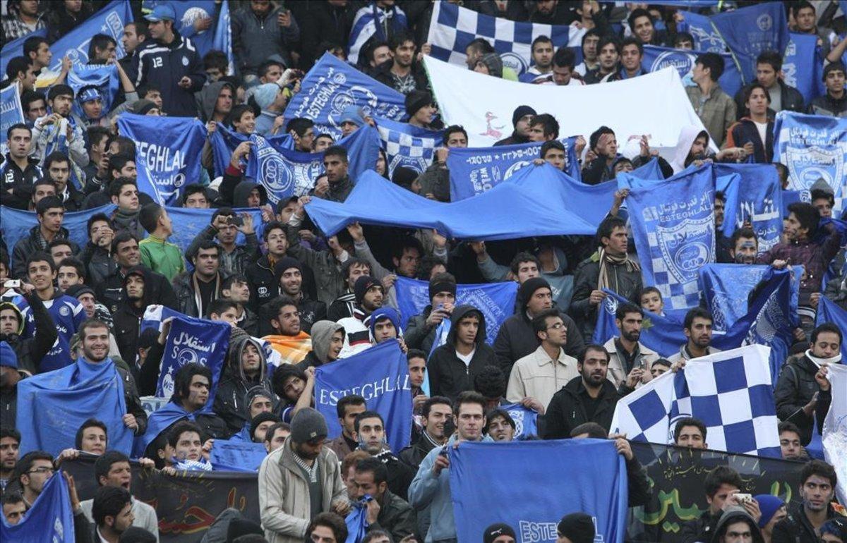 Seguidores del Esteghlal FC de Teherán