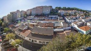 Vista de Can Peguera, uno de los barrios de Nou Barris.