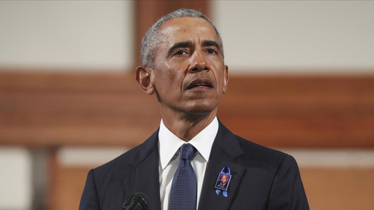 Obama, el pasado 30 de julio en Atlanta.
