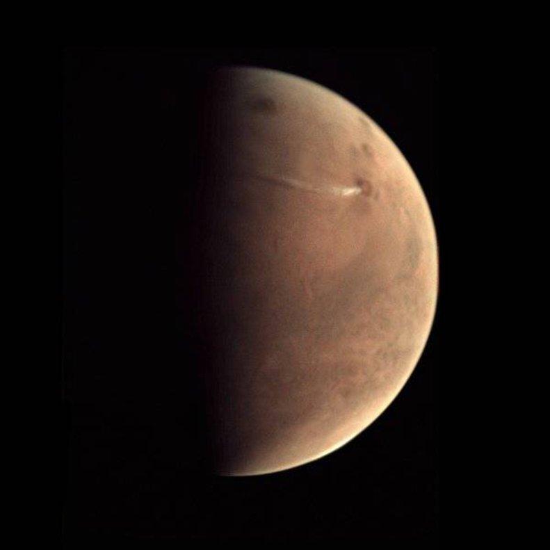 Fotografía de Marte tomada por el orbitador Mars Express de la ESA.