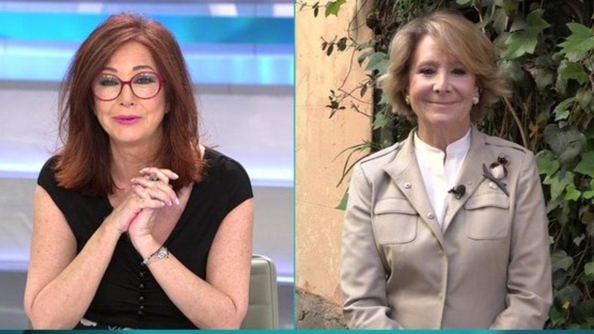"""Esperanza Aguirre pide ser colaboradora de 'AR': """"Mi vocación es ser tertuliana"""""""