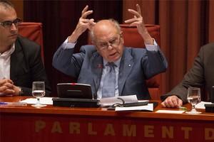 Jordi Pujol, en un moment de la seva compareixença al Parlament