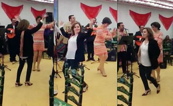 Resultado de imagen de Sáenz de Santamaría bailando