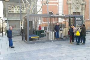 Celas en la plaza Santa Anna de Mataró.